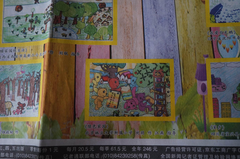 """中国梦""""为主题的的征文,绘画活动,六年级的许艺铧同学的文章《梦中的"""
