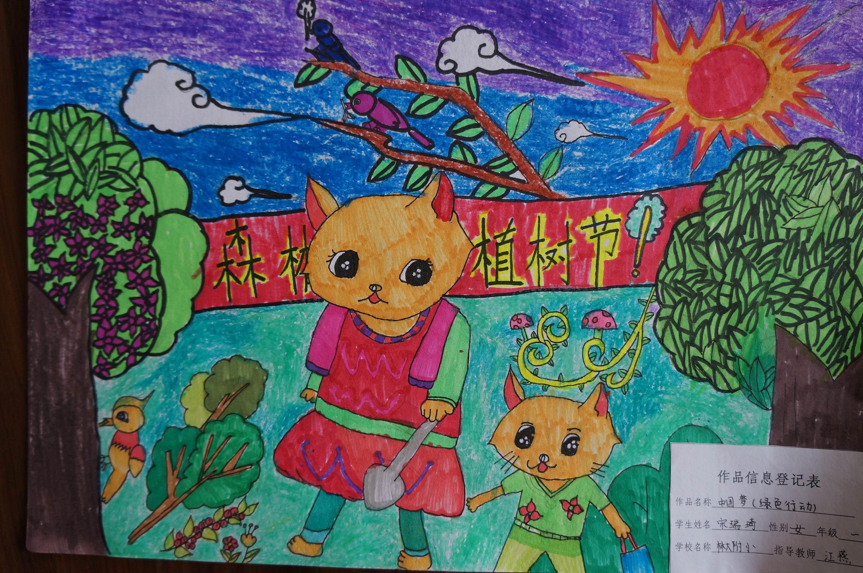 林大附小学生《中国梦》美术作品欣赏